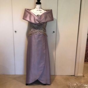 Taupe/ Mauve Evening Mother of Bride Gown